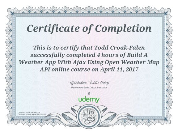 Open Weather Map API certificate